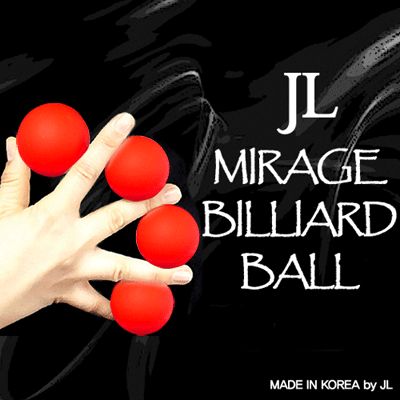 2 Inch Mirage Billiard Balls by JL (RED, 3 Balls and Shell)