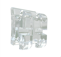 A clear bracket used by Dr. Cheng.