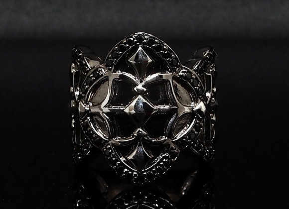 Silver Gothic ring 2