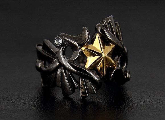ATHENA  Goddess Ring Goddess of War : Black&Gold