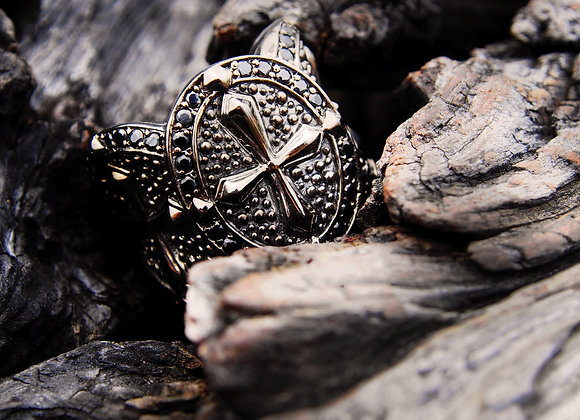 Silver Cross Warrior ring 1
