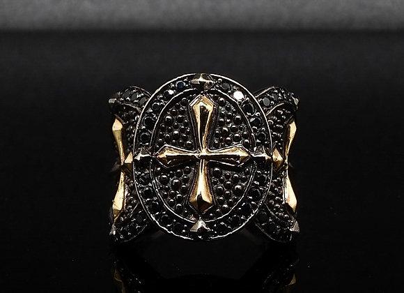 Gold Cross Warrior ring 01