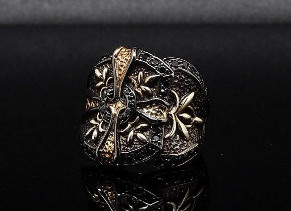 Gold Cross Baroque ring