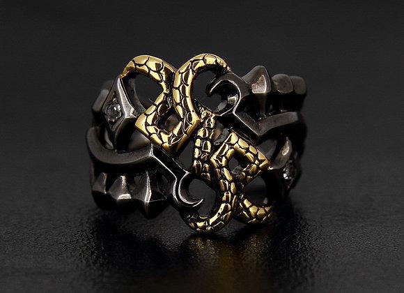 HADES God Ring King of Underworld : Black&Gold