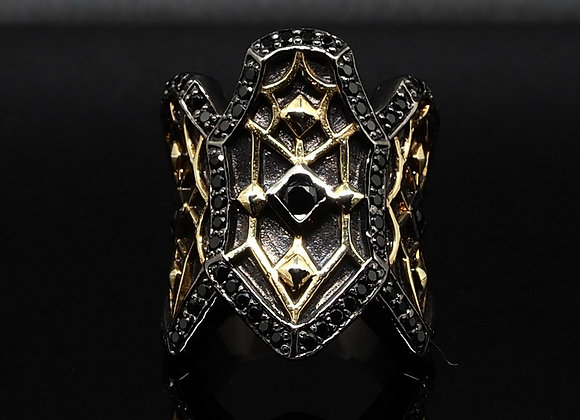Gold Gothic ring