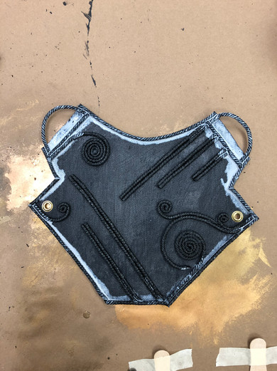 Denim Base with Cord Details
