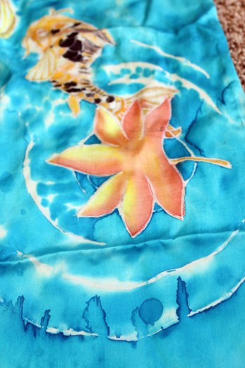 Silk Painted Scarf