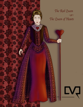 The Red Queen or The Queen of Hearts