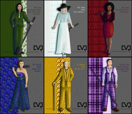 Clue Characters Complete Set