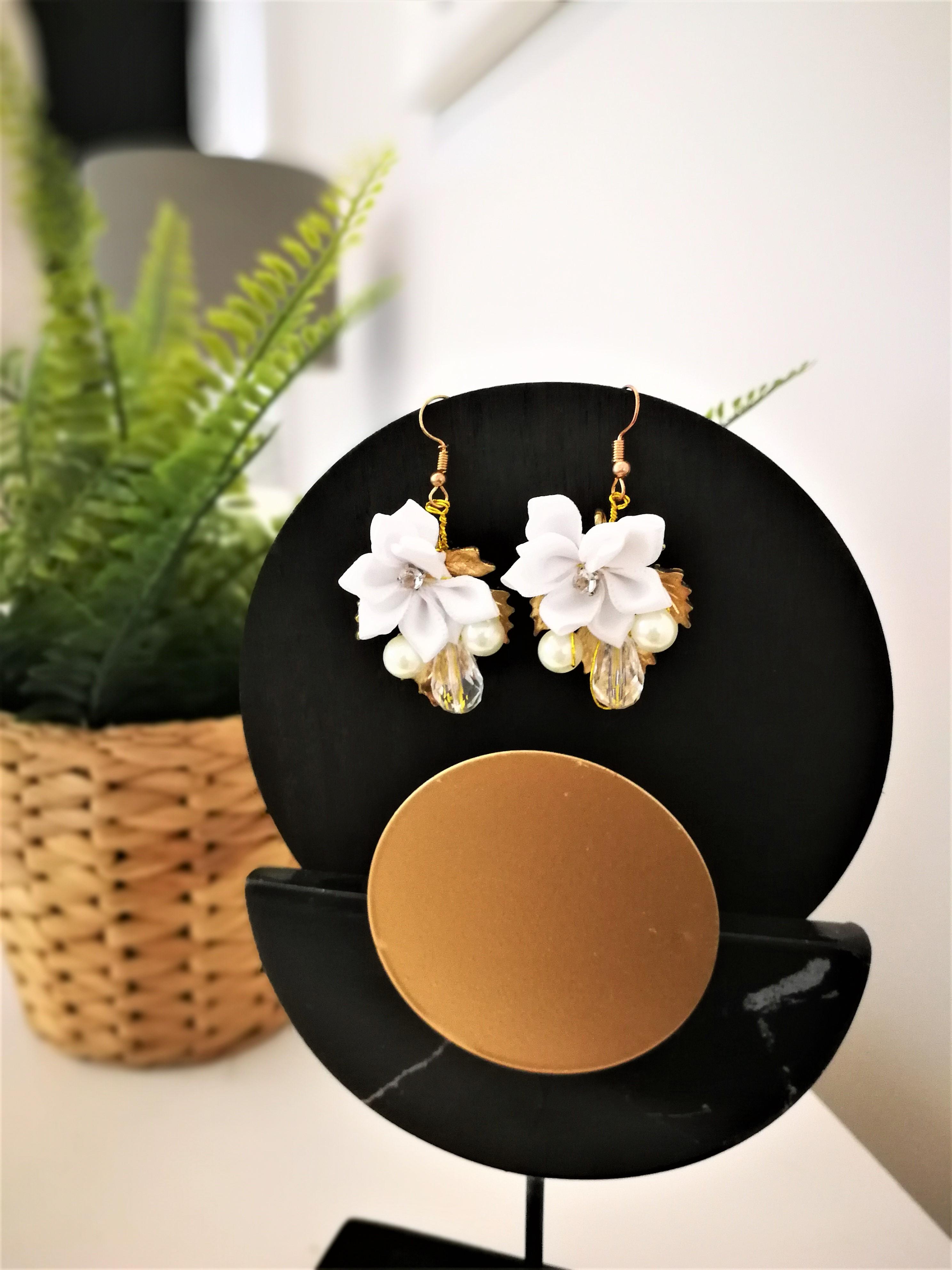 flower earings 2