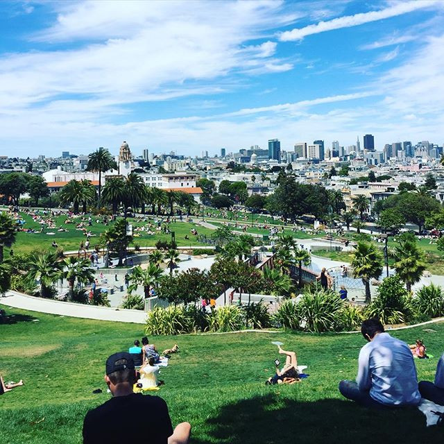 Dolores Park in The Mission District, San Francisco