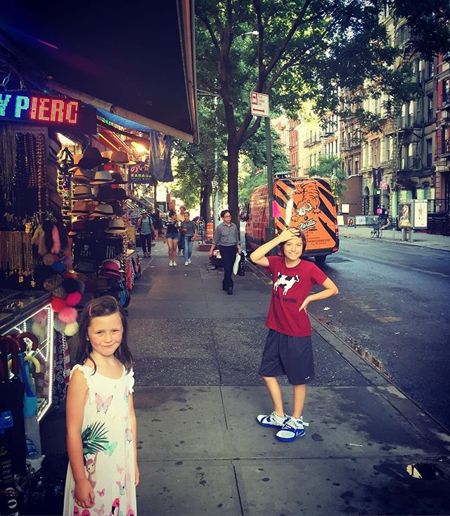 Kids on a hot and humid day in the East Village.
