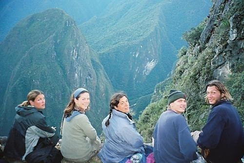 Young me with friends in Peru.