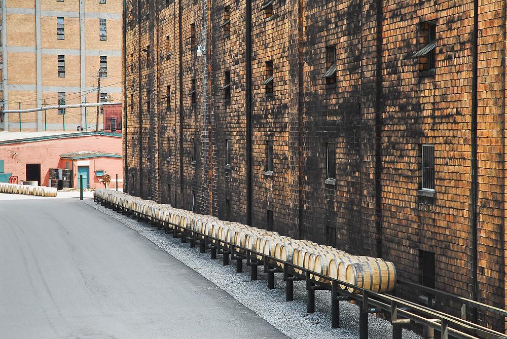 Bourbon barrels.