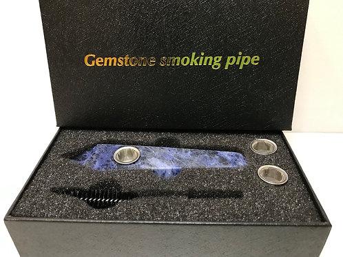 Sodalite Gemstone Smoking Pipe