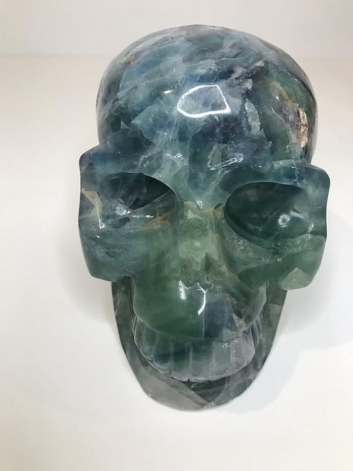 Carved Fluorite Skull 1.98kg