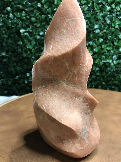 Peach Moonstone Polished Flame