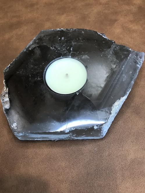 Smokey Quartz Tealight Holder Semi Polished A