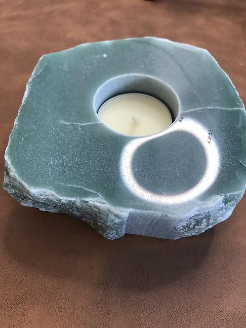 Aventurine Tealight Holder Semi Polished