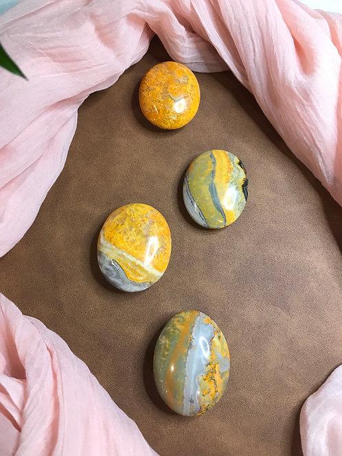 Bumblebee Jasper Palm Stones