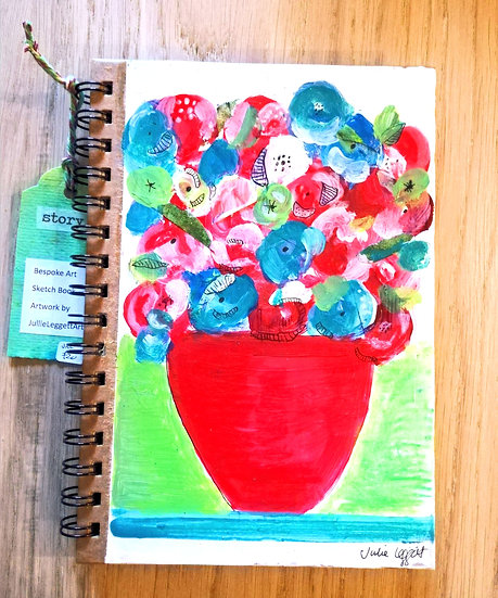 Red jug flowers (original artwork)