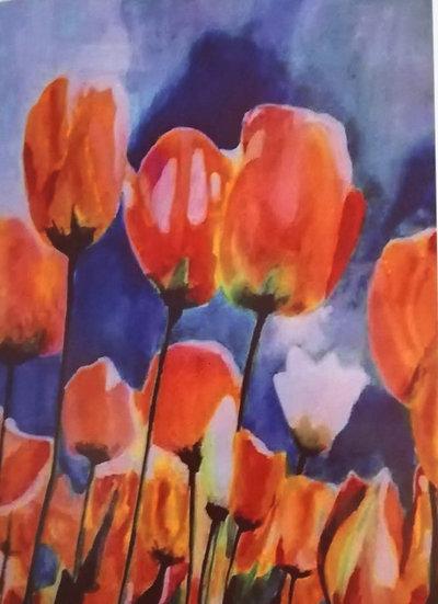 'Tulips' card A5
