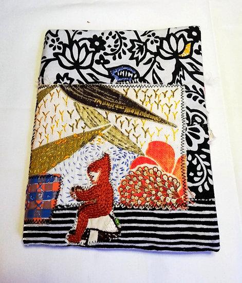 Fabric slow stitch cover/jounal stitch book