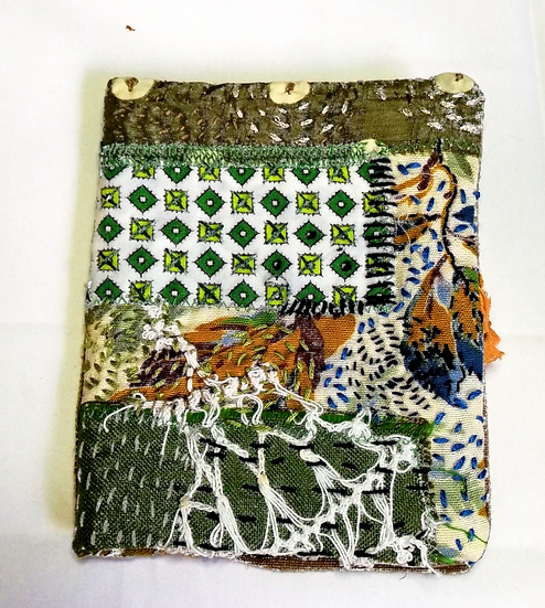 Fabric slow stitch cover/Journal