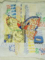 Slow stitch with transfer photocopied im