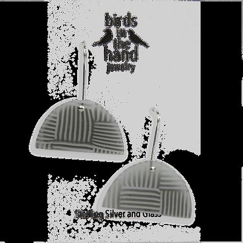 Basket weave hillside earring