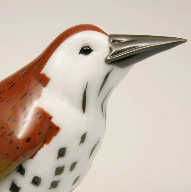 Sculpted glass murrini bird