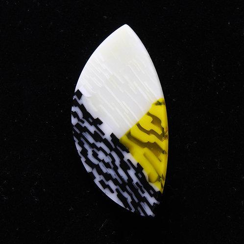 Small Yellow Tear-drop Stick Pin Brooch