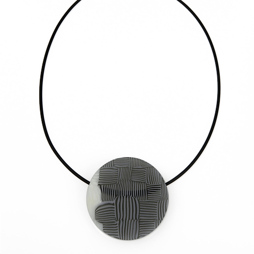 Basket Weave Circular Pendant