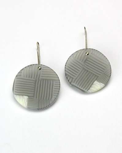 Basket weave drop earrings