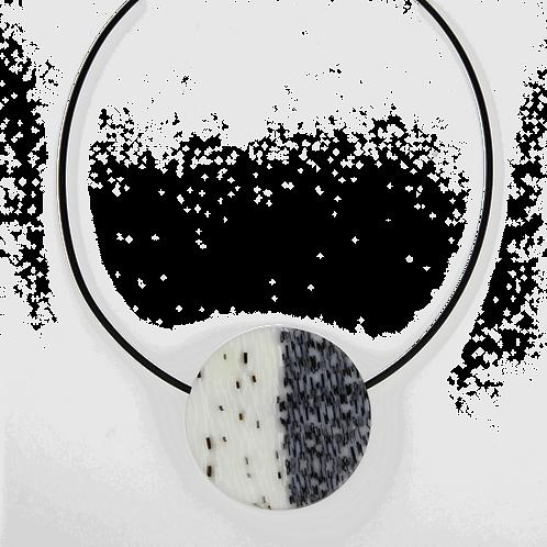 Grey Heathered Circular Pendant