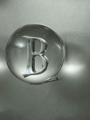 Glass Air Trap Sphere on Stainless Steel