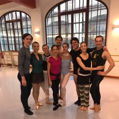 Ballet class in Praga