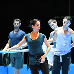 Class on stage with Ballet Biarritz