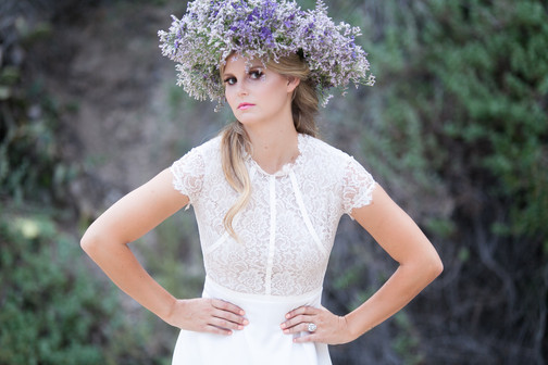 dramatic floral crown