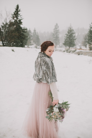winter bride- Featured on Wedding Chicks