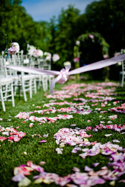 stylized petals for your aisle