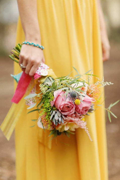bridesmaid bouquet- Featured on Green Wedding Shoes