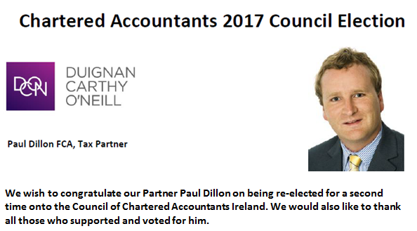 Mr. Paul Dillon on being re-elected for a second time to the Council of Chartered Accontants Ireland