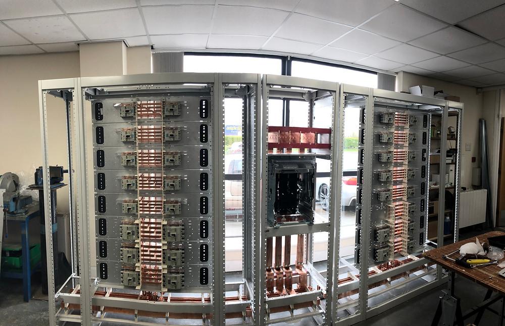 Semi-built Glenace LV Panel for new Leeds City Centre office blocks.