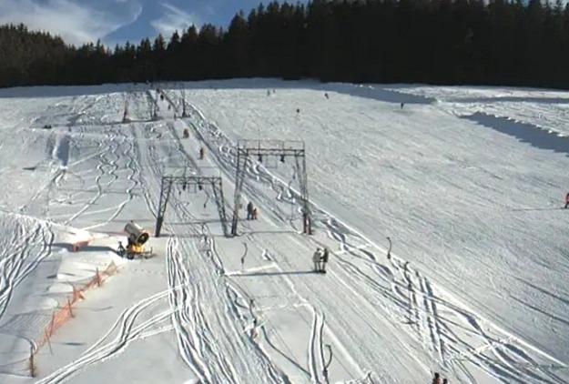 ganz entspannt Ski fahren
