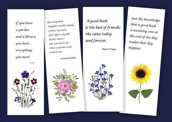 Give pressed flower bookmarks