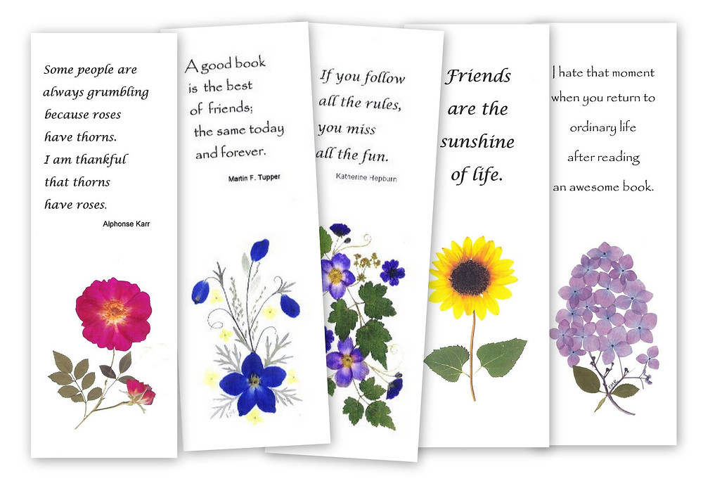 Pressed flower bookmarks by Vermont Pressed Flowers