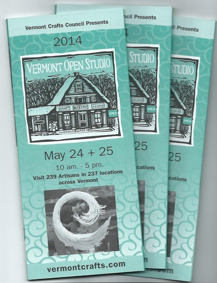 3 booklets of the Vermont Open Studio event in 2014