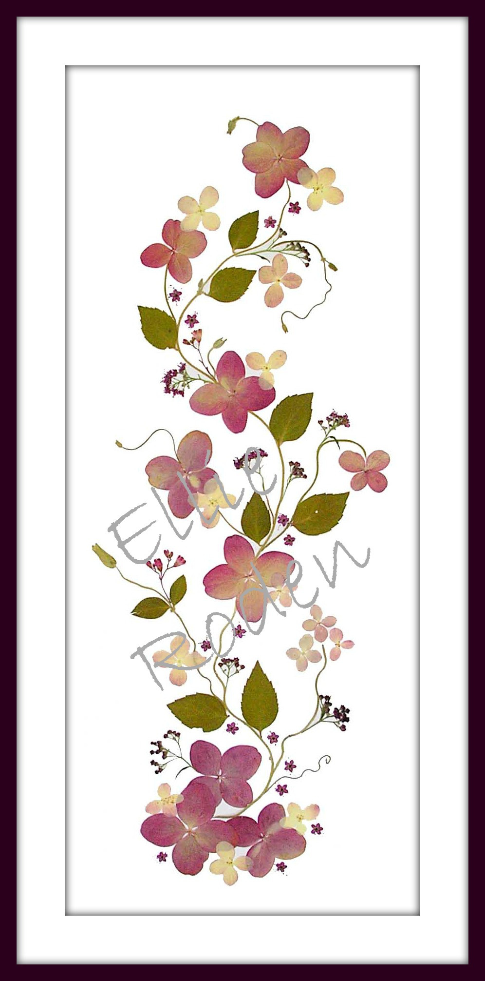 Original presser flower print from Ellie Roden