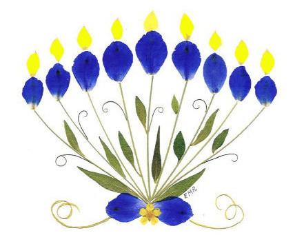 Hanukkah Pressed Flower Cards